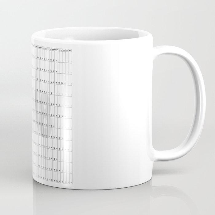 2018 sunday planner square coffee mug by feiermar society6