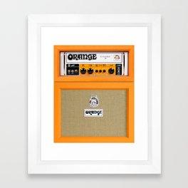 Bright Orange color amplifier amp Framed Art Print