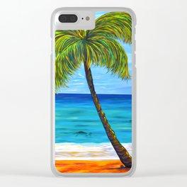 Maui Beach Day Clear iPhone Case