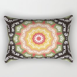 Abstract Alphabet Design 1 Rectangular Pillow