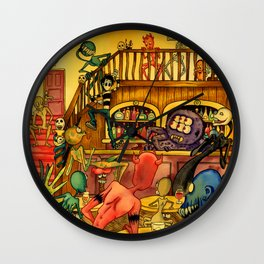 A Town Called Morteville Wall Clock