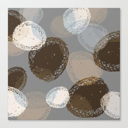 Seed Pods Neutral Color Graphic Pattern Canvas Print