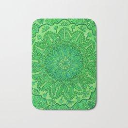 mandala of greenery Bath Mat