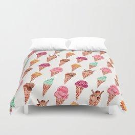 Ice Cream Cones – Rainbow Palette Duvet Cover