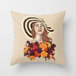 A flower between flowers // Del Rey with a bouquet Throw Pillow
