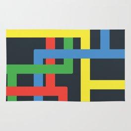 Flat Color Lines Rug