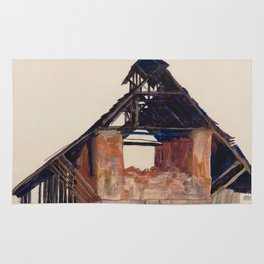 "Egon Schiele ""Old Gable"" Rug"