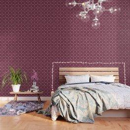 Pink Geometric Futuristic Quilt Wallpaper