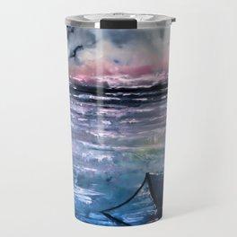 Coucher de soleil sur mer Travel Mug