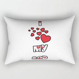 I Love My God Rectangular Pillow