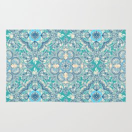 Gypsy Floral in Teal & Blue Rug