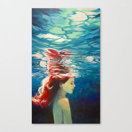 Underwater Ariel Canvas Print