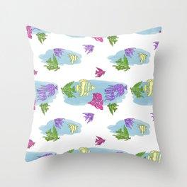 Wonderful Water World Collection by Studio Ebon D'zynz Throw Pillow