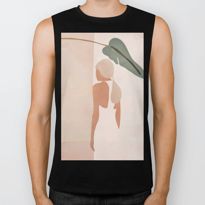 Abstract Woman in a Dress Biker Tank