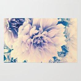 Delicate Beauty (Vintage Blue Lavender Dahlias) Rug