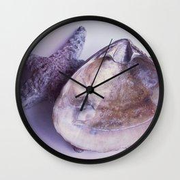 Seashell in Violet II Wall Clock