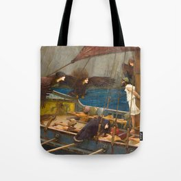 John William Waterhouse - Ulysses and the Sirens, 1891 Tote Bag