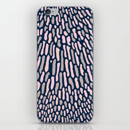 Organic Abstract Navy Blue iPhone Skin