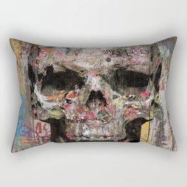 Romantic Street Skull Rectangular Pillow