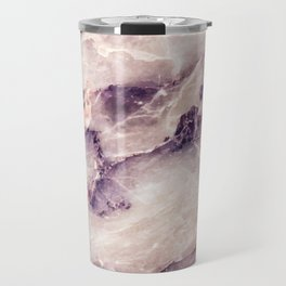 Pink marble texture effect Travel Mug