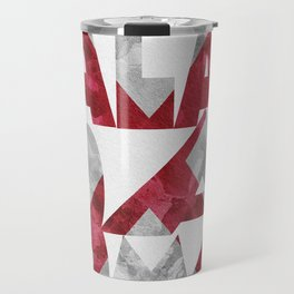 Alabama Typographic Flag Map Travel Mug