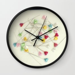 I heart pins Wall Clock