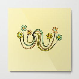 bloom where you are planted // waves and flowers Metal Print