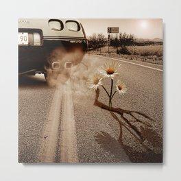 Exhausting Pipe Flowers Metal Print