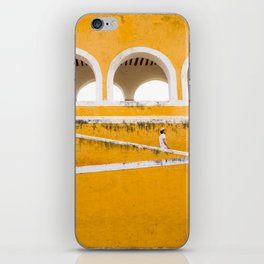 Colonial Mexico, Izamal in Yellow #buyart #society6 #decor iPhone Skin