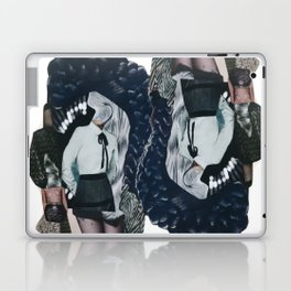 She was all mixed up - a modern, black and white collage by jules tillman Laptop & iPad Skin