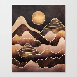 Sunkissed Mountains Canvas Print