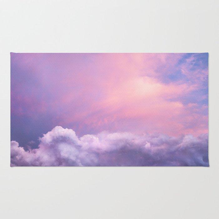 Sunset and Clouds | Blush Pink | Unicorn | Sky Rug