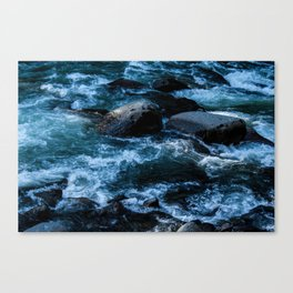 Like Stones Under Rushing Water Canvas Print