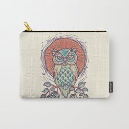 Owl on branch Carry-All Pouch