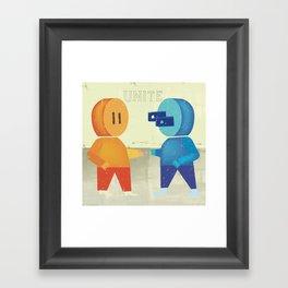 Plug and Socket Framed Art Print