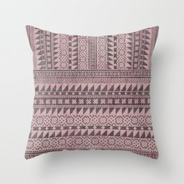 triangle kilim in pale pink Throw Pillow