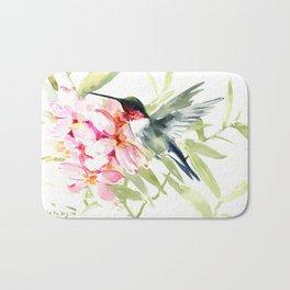 Hummingbird and Plumerias Bath Mat