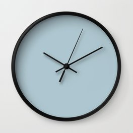 Soft Chalky Pastel Blue Solid Color Wall Clock
