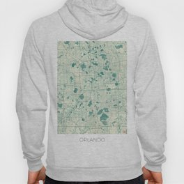 Orlando Map Blue Vintage Hoody