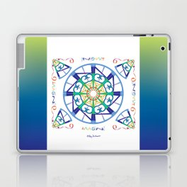 Imagine from the Inside - White/Blue Green Laptop & iPad Skin