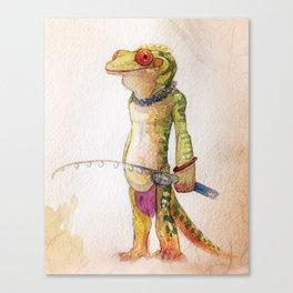 Gecko Fisher Canvas Print