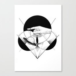 Holding the universe  Canvas Print