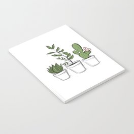 Three Little Succulents Notebook
