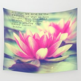 Lotus - Buddha Quote Wall Tapestry