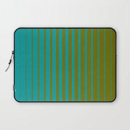 gradient stripes aqua olive Laptop Sleeve