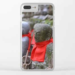 Little Japanese Jizo Clear iPhone Case