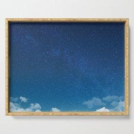 Blue Starry Sky Serving Tray