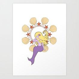 Little Siren Sister Art Print