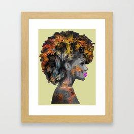 Afro-Girl Framed Art Print