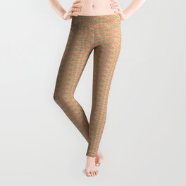 Delicate Peach Damask Pattern Leggings